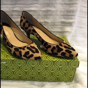 Gianni Bini Leopard Calf Hair Pumps